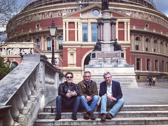 Outside Royal Albert Hall